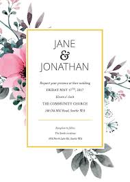 wedding template invitation 3 free wedding invitation templates exles lucidpress