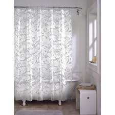 Stall Size Fabric Shower Curtain White Stall Size Fabric Shower Curtain Weighted Hem Water