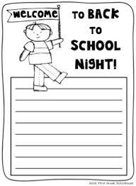 welcome to back to night by first grade schoolhouse note