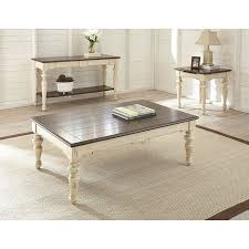 Walnut Sofa Table by Steve Silver Wy300s Wesley Sofa Table In Walnut Distressed White