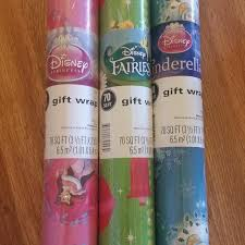 wrapping paper on sale best disney princess fairies and cinderella 70 sq ft christmas