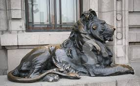hsbc bank lion sculptures bronze lions bronze lion
