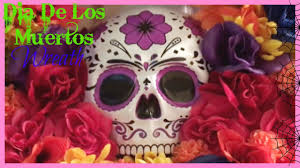 dia de los muertos wreath inexpensive diy halloween wreath youtube