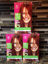 5x clairol herbal essences paint the town deep red 44 hair color