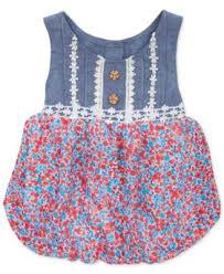 rare editions baby girls u0027 chambray floral dress kids macy u0027s