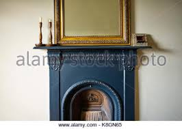 Victorian Cast Iron Bedroom Fireplace Bedroom In Victorian House With Cast Iron Fireplace Stock Photo