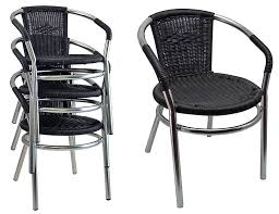 outdoor aluminum stacking restaurant arm chairs pvc wicker