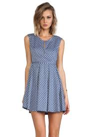 minkpink country dress in french blue revolve