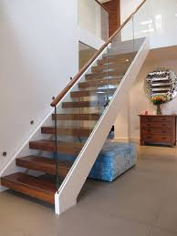 handrails for stairs staircase contemporary with wall stair