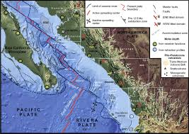 Map Of California And Mexico by Late Oligocene To Middle Miocene Rifting And Synextensional