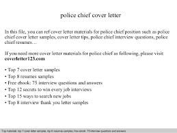 Police Chief Resume Examples by Police Chief Cover Letter