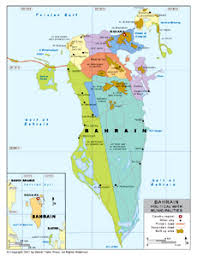 map of bahrain political map of bahrain with provincial state boundaries by