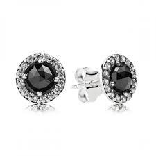 black earring studs glamorous legacy black spinel stud earrings pandora mall of america