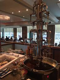 Langham Hotel Chocolate Buffet by Chocolate Fountain The Langham Melbourne Picture Of The