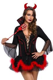 halloween devil costumes miss iblis devil costume wholesale halloween costumes set