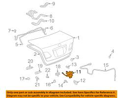 lexus es 330 not starting lexus toyota oem 04 06 es330 trunk lock or actuator latch release