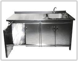 Metal Kitchen Sink Cabinet Unit Kitchen Sinks Metal Kitchen Sink Cabinet Unit Silver Rectangle