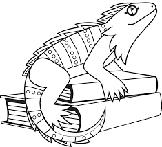 iguana coloring page 2 alric coloring pages