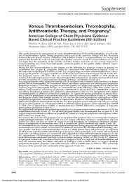 venous thromboembolism thrombophilia antithrombotic therapy and