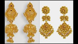 gold jhumka earrings design plain gold jhumka designs