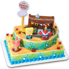 spongebob cake toppers spongebob squarepants krusty krab signature decoset