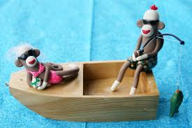 sock monkey wedding cake topper boat couple this is a cust u2026 flickr
