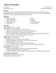 exles of administrative resumes