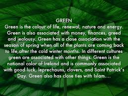 the color green means 5 if your favorite color is green meanings