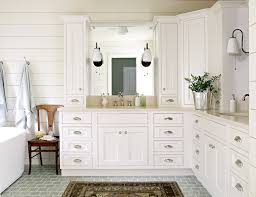 Lauren Liess Interiors Subway Tiled Floor Cottage Bathroom Lauren Liess Interiors