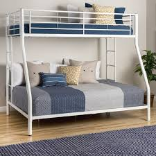 White Metal Twin DoubleFull Bunk Bed Free Shipping Today - Double and twin bunk bed