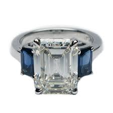 sapphire emerald cut engagement rings free rings emerald cut sapphire and engagement