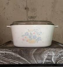 vintage corning ware pyroceram country cornflower 3 liter dutch