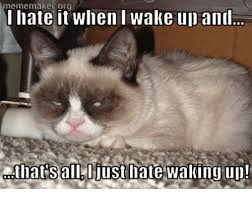 Meme Generator Grumpy Cat - meme maker it when wake up and i hate iats all ljust late waking
