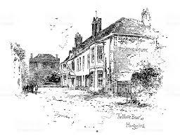 victorian illustration the black bear at hungerford berkshire
