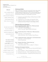 Elementary Teacher Resume Format Resume First Year Elementary Teacher Resume