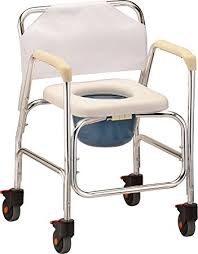 Shower Chair On Wheels Amazon Com Nova Medical Products Shower Commode W Wheels Health