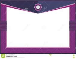 Invitation Card Border Design Purple Certificate Or Diploma Template Frame Border Stock Vector