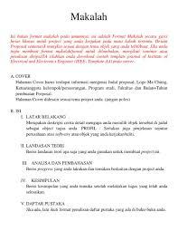 daftar pustaka merupakan format dari announcement of format makalah biasa