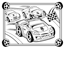 drawn race car races pencil and in color drawn race car races