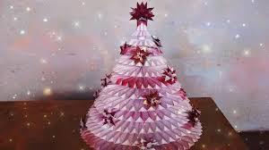 diy amazing paper rosette christmas tree handmade origami
