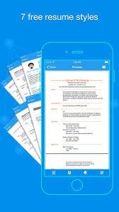 Quick Resume   Resumes Builder and Designer on the App Store iPhone Screenshot