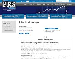 online yearbook database database of the week political risk yearbook business library news