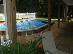 pictures of semi inground pools with decks pools u0026 backyards