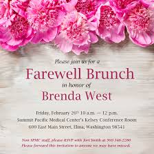 brenda west farewell brunch summit pacific medical center