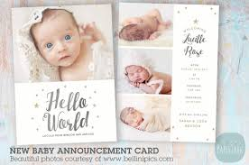 an009 newborn baby card announcement card templates creative