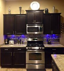 Led Lights Under Kitchen Cabinets by Brown Silver Kitchen Tile Stainless Steel Backsplash Modern