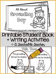 groundhog crafts worksheets printable books