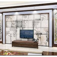 Wohnzimmer Retro Shinehome Retro Weltkarte Wallpapers Brick Rollen 3d Fototapeten