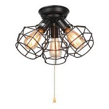 pull ceiling lights lnc wire cage ceiling lights 3 light pull string flush mount