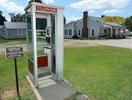 telephone booth photo sign marks arkansas phone booth on national register of